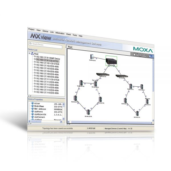 MxStudio - Network Management software (NMS) from Moxa
