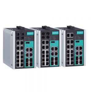 Image of EDS-518E - Industrial grade managed ethernet switch