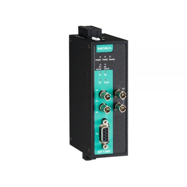 Image of ICF-1280i - PROFIBUS to fiber converter, dual channel