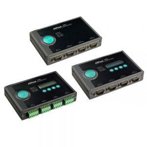 Image of NPORT 5400 series modules which are 4 Port serial to ethernet converters