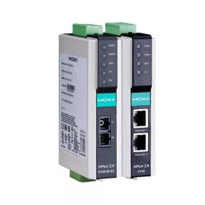 Image of Nport IA Series - Industrial grade Serial to Ethernet converter modules with dual Ethernet, dual Power supply inputs & Din Rail mount