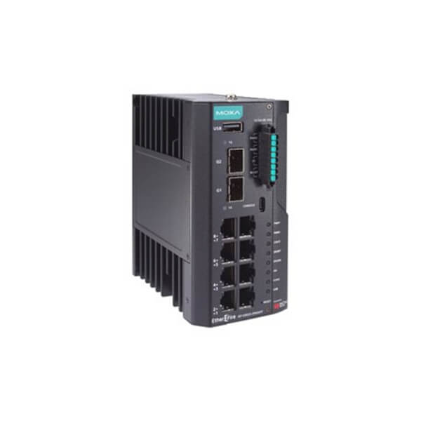 IEF-G9010 - 8 GbE copper + 2 GbE SFP multiport industrial IPS firewall