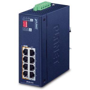 IPOE-470 - Industrial 4-port Gigabit 802.3bt PoE++ Injector Hub