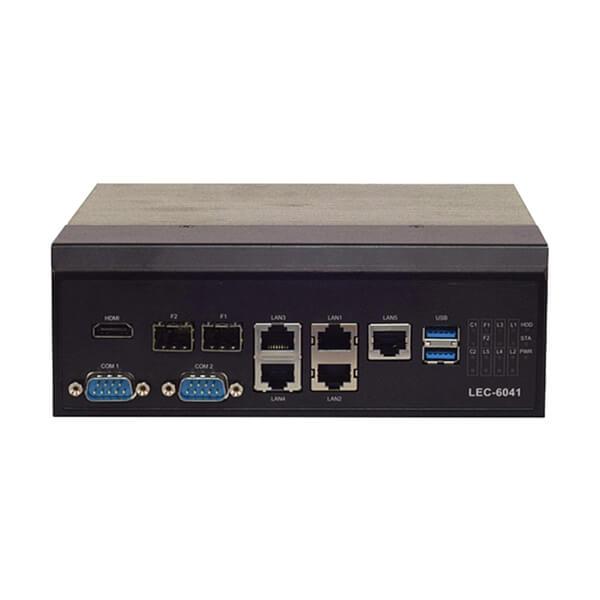 LEC-6041 - IEC 61850-3 Wide Temperature ICS Cyber Security Gateway with Intel Atom CPU