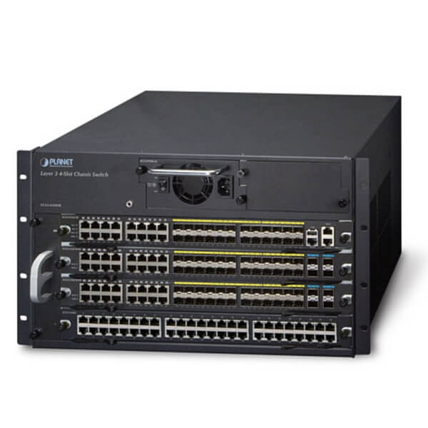 XGS3-42000R - 4-slot Layer 3 IPv6/IPv4 Routing Chassis Switch ( with one AC power supply unit)