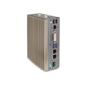 POC-300 series Intel® Pentium® N4200 & Atom™ E3950 ultra-compact DIN-rail fanless rugged computer with GbE & PoE